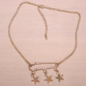 Safety pin stars necklace - Free w/$5 purchase